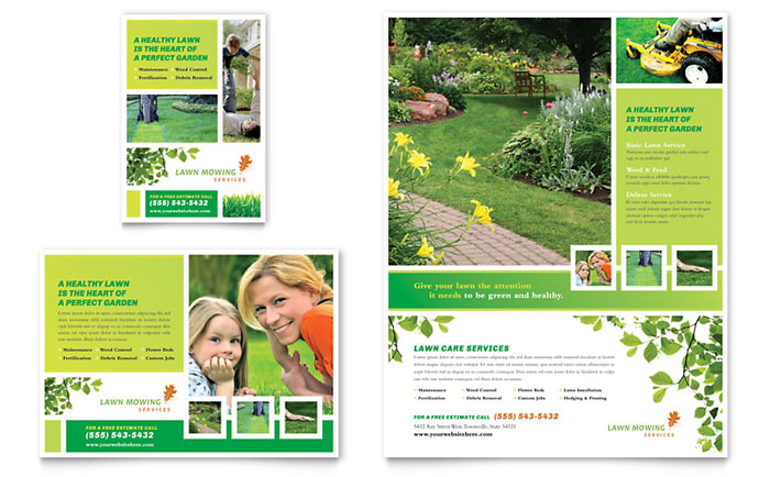 Environmental ConservationLawn Mowing Service Flyer Design