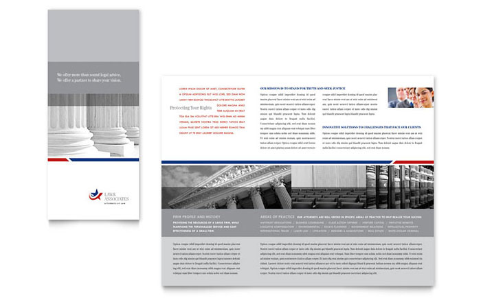 Legal Amp Government Services Tri Fold Brochure Template Design
