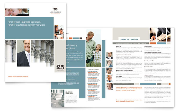 Family Law Attorneys Brochure Design