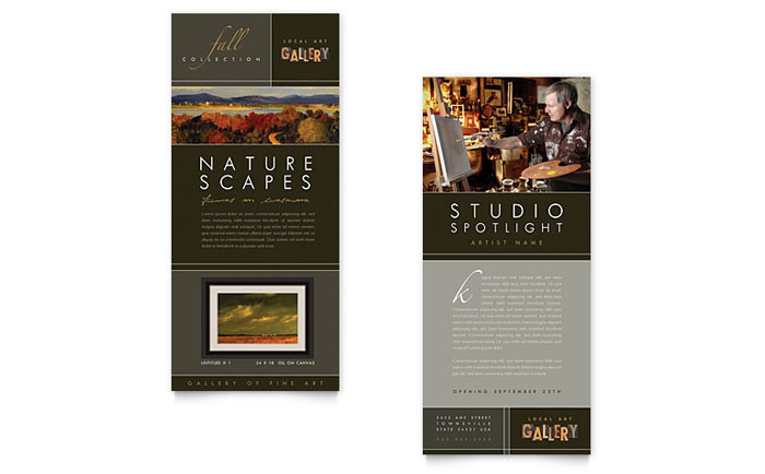 Art Gallery Rack Card Design