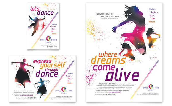Dance Studio Flyer Design