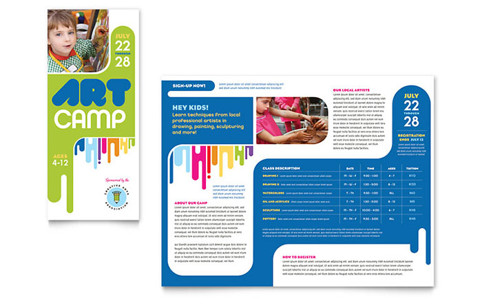 Kid's Art Camp - Brochure Sample