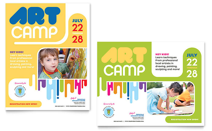 Graphic Designs for Kid's Art Classes | StockLayouts Blog