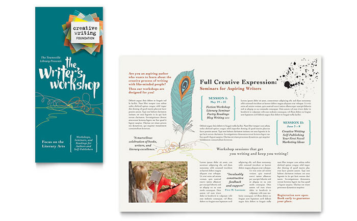 Writing Workshop Brochure Design