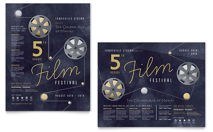 Film Festival Poster Design Idea