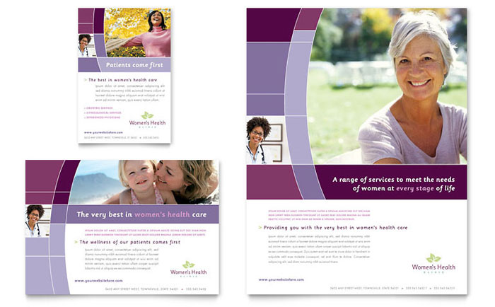 Women's Health Clinic Flyer & Ads Design