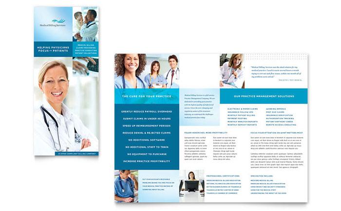 Medical Billing & Coding Brochure Design
