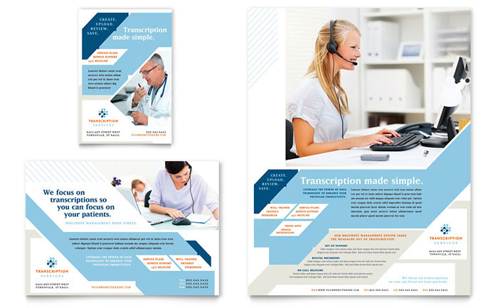 Medical Transcription Flyer & Ad Design