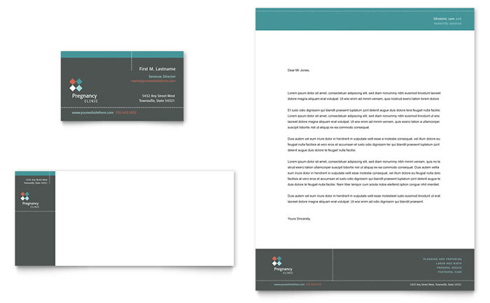 Pregnancy & Childbirth Clinic Stationery Design