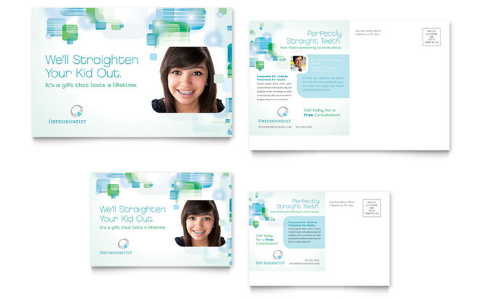 Dentist & Orthodontist Postcard Design