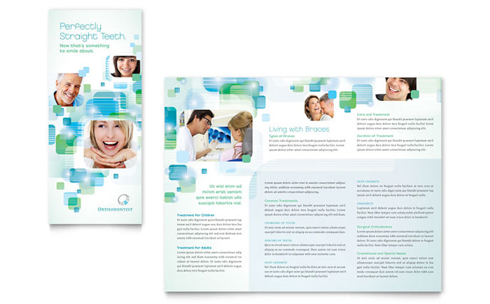 Dentist & Orthodontist Tri-Fold Brochure Design