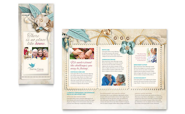 Hospice & Home Care Tri Fold Brochure Design