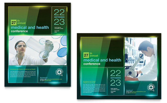 medical conference event marketing templates