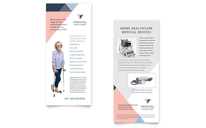 Home Medical Equipment Supplier - Rack Card Example