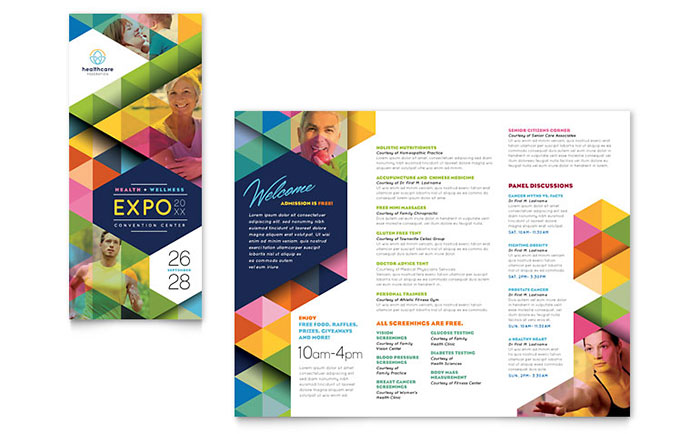 Health Fair Tri-Fold Brochure Sample