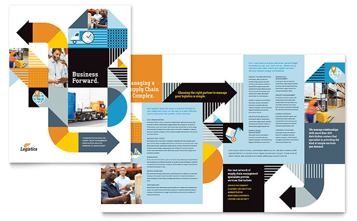 Logistics Management - Brochure Design Example