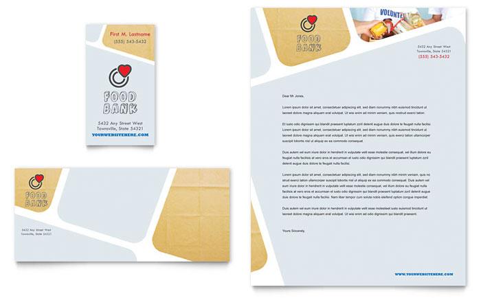 Food Bank Stationery Design
