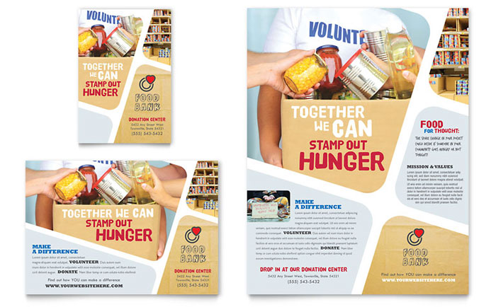 Food Bank Flyer Design