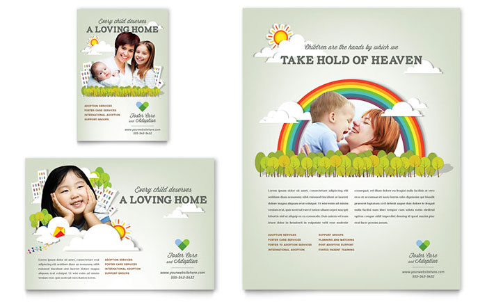 Daycare Advertisements & Flyers For Small Business Marketing