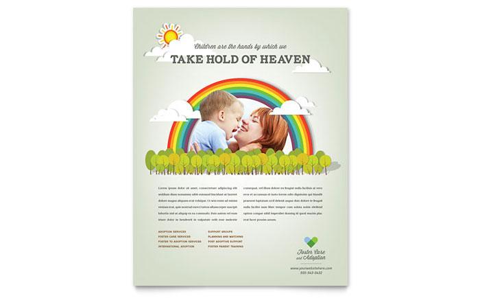 Foster Care Amp Adoption Flyer Template Design