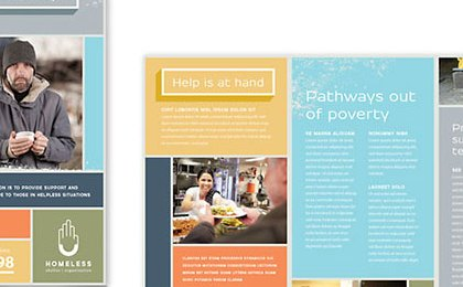 HD Decor Images » Homeless Shelter Brochure Template Design