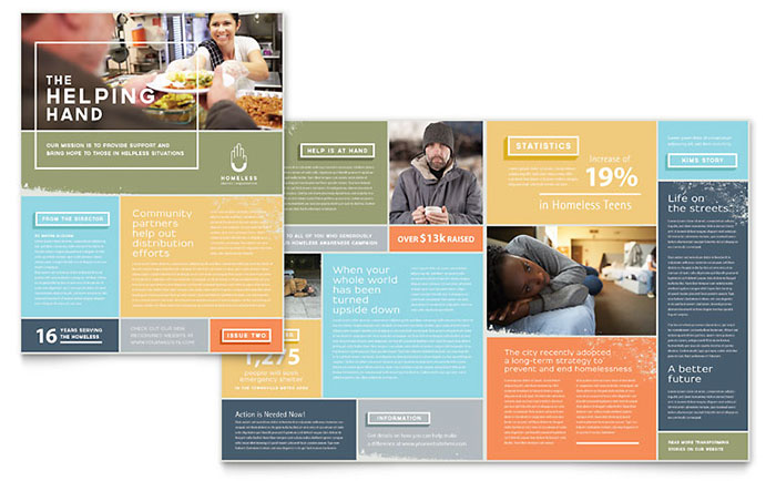 Homeless Shelter - Newsletter Design Sample