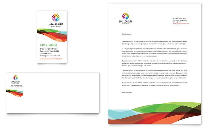 Golf Tournament Letterhead & Business Card Design Idea