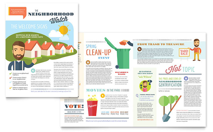 homeowners association sample newsletter design