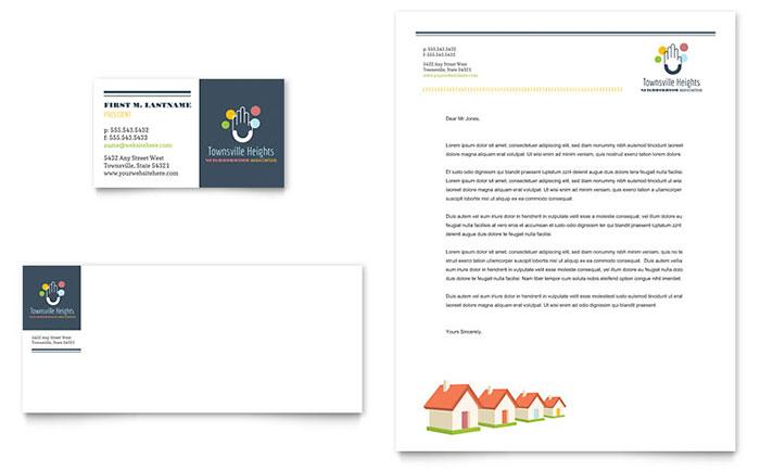 Homeowners Association - Sample Letterhead Design