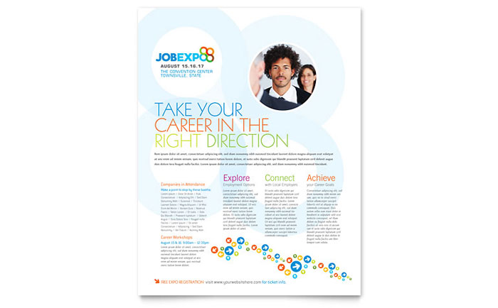 Job Expo Career Fair Flyer Template Design