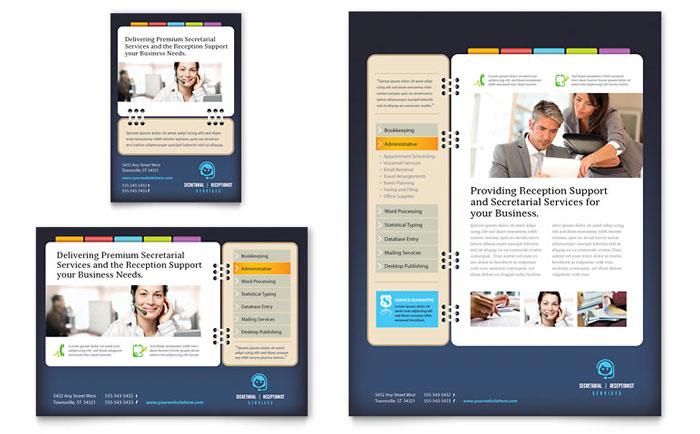 Secretarial Services Flyer & Ad Design