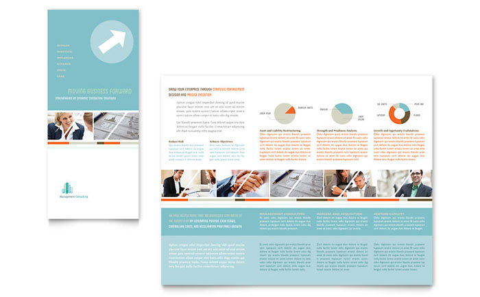 Management Consulting Tri Fold Brochure Design
