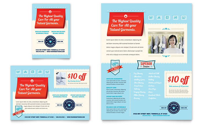 Laundry Services Flyer Design