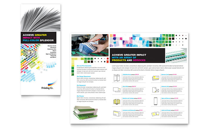 Tri-fold Brochure Example - Printing Company
