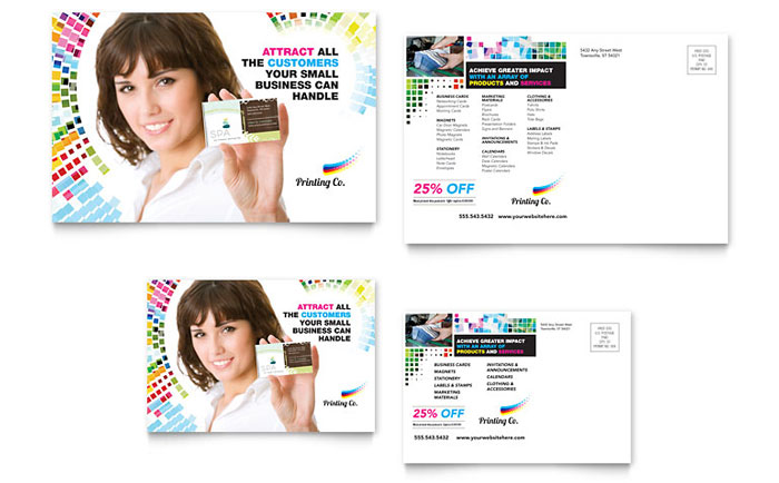 Postcard Example - Printing Company