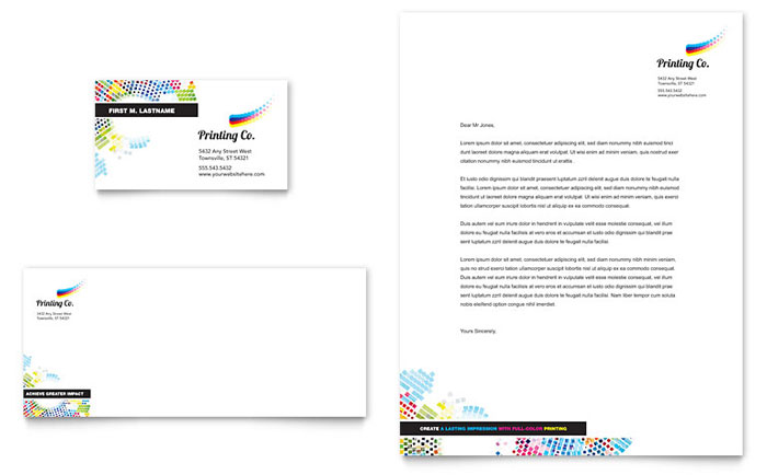 Business Card Example - Printing Company
