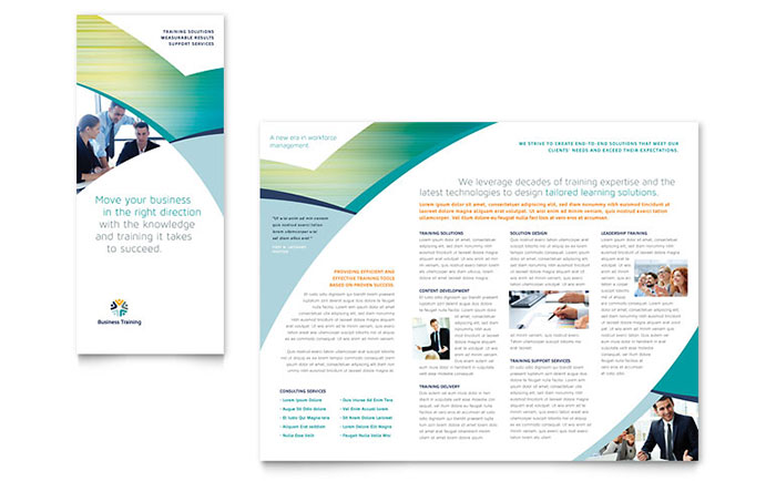 Business Training - Tri-Fold Brochure Sample