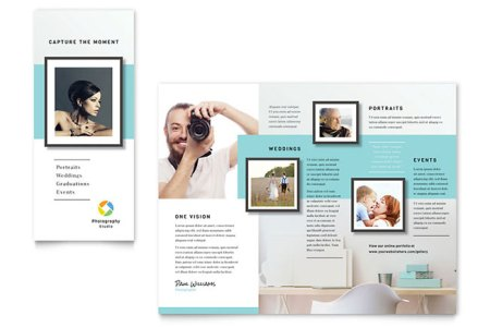 Tri Fold Brochure Templates   InDesign  Illustrator  Publisher  Word     Photographer Brochure      Realtor Tri Fold Brochure Template