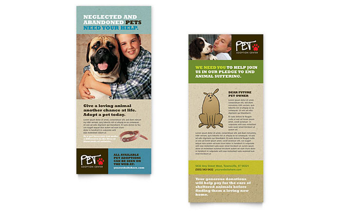 Animal Shelter - Rack Card Example
