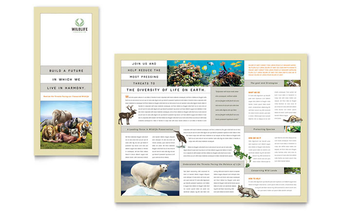Wildlife Conservation Tri Fold Brochure Design