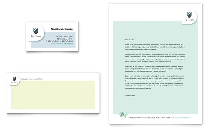 Pet Store - Business Card & Letterhead Design