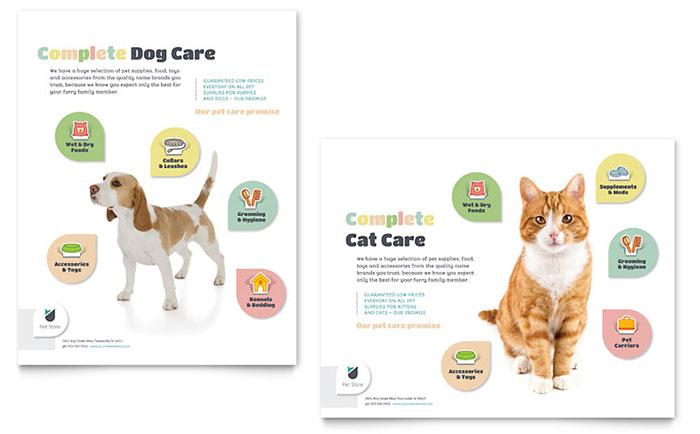 Pet Store Poster Design