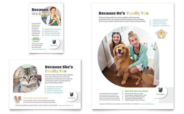 Pet Store Flyer & Ad Design