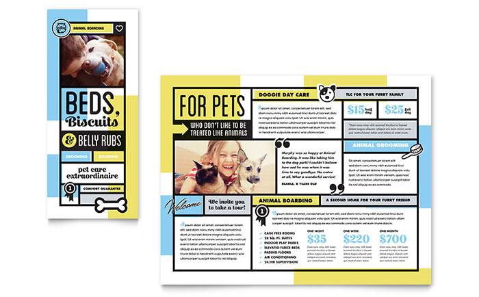 Pet Boarding Business Brochure Design