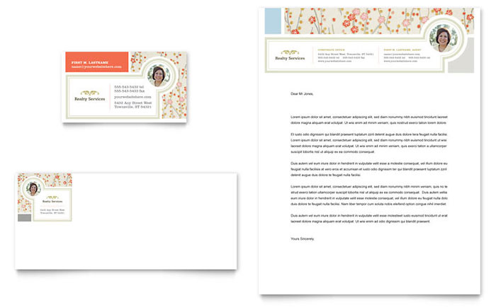 Realtor Business Card & Letterhead Design