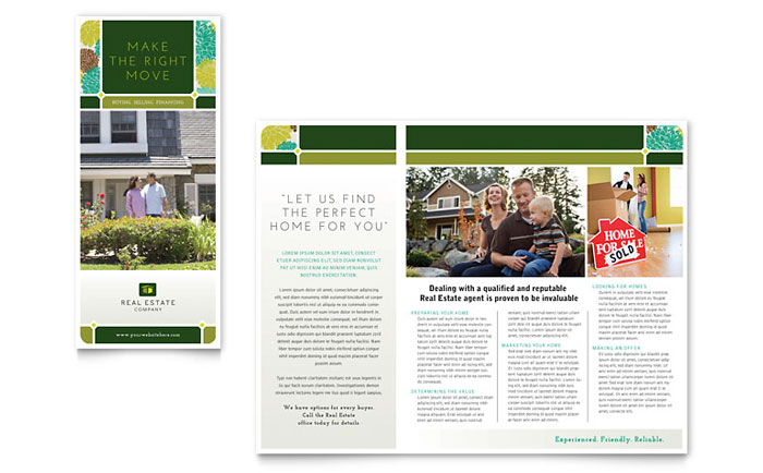 Real Estate Tri Fold Brochure Design