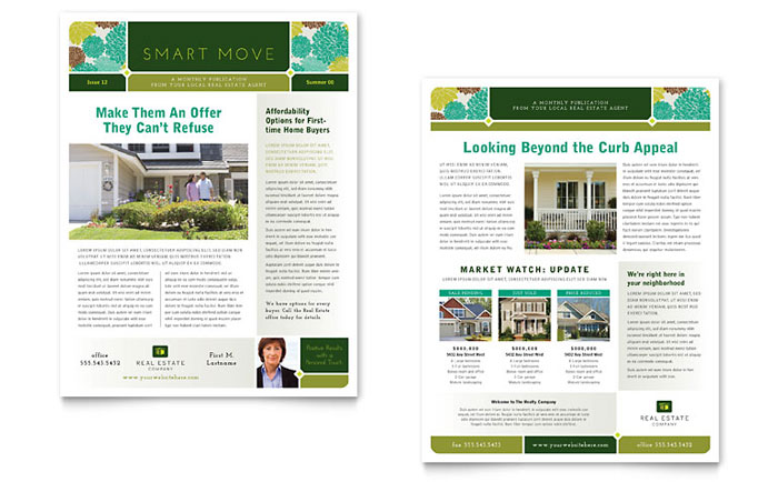 Real Estate Newsletter Design