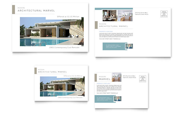Modern Real Estate for Sale Postcard - Sample Template
