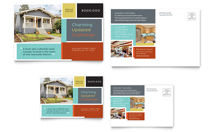 Real Estate Marketing Postcards Quick Easy Templates – Real Estate Marketing Postcard Templates