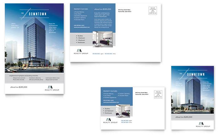 Urban Apartment for Rent Real Estate Postcard